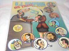 O.J. SIMPSON ON TRIAL COLLECTORS SERIES MILK CAPS 10 POGS SLAM BOARD NEW SEALED
