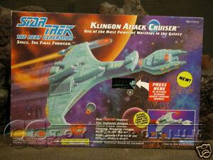 "VERY RARE Star Trek ""TNG"" Klingon Attack Cruiser MIB"