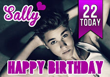 Personalised Justin Bieber Birthday Greeting Card A5