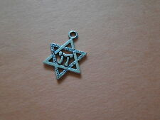Chi in Star of David Pewter Pendant / Charm