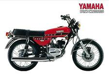 YAMAHA Poster RX125 1970s 1980s Suitable to Frame