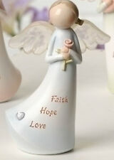 Angel with Sentiment Faith, Hope, Love Figure Roman Giftware Item 60761c Nib
