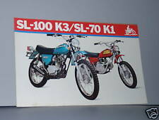1973 Honda SL100 K3 / SL70 K1 Motorcycle Sales Brochure / Literature