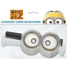DESPICABLE ME 2 Minions ~ (8) PAPER GOGGLES ~ Birthday Party Supplies Favors