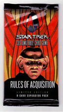 Star Trek Ccg Sealed Packets of Rules of Acqusition 1st Edition Series, 9 Cards