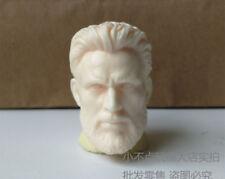 1/6 scale Captain America Head Carved Beard . Chris Evans head sculpt unpainted