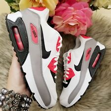 Nike Air Max 90 Women s Shoes Size 7 White Solar Red Style 325213 132 941e84495