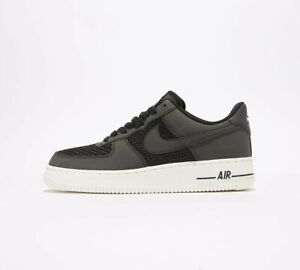Mens Nike Air Force One AF1 Lo Woven Black Trainers (NF1) RRP £69.99