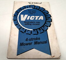 1970s ? VICTA 4 STROKE MOWER Manual - Commander Corvette Cortina Consul