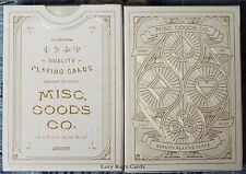 1 Deck Ivory Misc Goods Co Playing Cards~Free Shipping