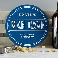 Personalised Man Cave Heritage Wall Plaque - Birthday Father's Day Gift Dad