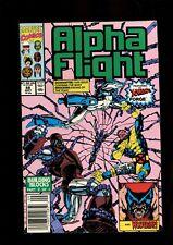 ALPHA FLIGHT 88 (9.4) NEWSSTAND JIM LEE WOLVERINE MARVEL (B056)