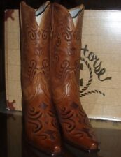 Lucchese  Charlie 1 Horse(14630) TN  Rustic Leather Western Cowboy Boots 6 M-NIB
