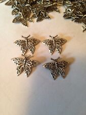 10 Pcs 20mm Tall Butterfly Pewter Beads/Pendants L@@K