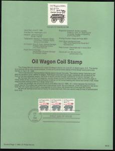US. SP682a. 2130a. 10.1c. Oil Wagon, Transportation Coil. Souvenir Pages 1987
