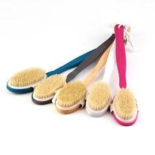 Natural Long Wood Wooden Body Brush Massager Bath Shower Back Spa Scrubber CGSAH