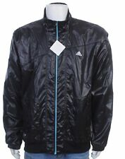 Adidas windbreaker jacket - size XL - shiny nylon - wetlook - glanz