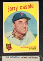 1959 Topps #456 Jerry Casale Boston Red Sox Vintage Baseball ROOKIE Card VG/EX