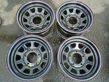 Offroad Steel Wheel Rims Set of 4  15x7 5x5 1/2 Bolt Pattern BLACK