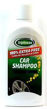 CARPLAN TRIPLEWAX CAR SHAMPOO - WASH & WAX FOR STREAK FREE FINISH-  1 LTR