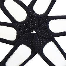 6 Pairs Women No-Show Foot Cover Liner Low Socks Cut Set Black Dot size 9-11