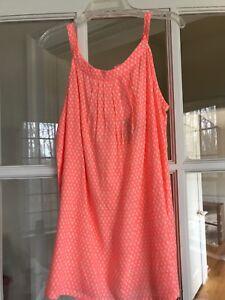 NWT Girls Top, Size 7/8, Neon Orange Print