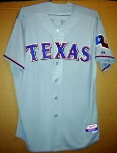 TEXAS RANGERS GRAY #47 BUTTON-DOWN AUTHENTIC MLB Baseball Size 52 JERSEY