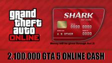 PlayStation 4 (PS4) GRAND THEFT AUTO ONLINE (GTA 5) MONEY SHARK CARD (2,100,000)