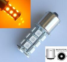 2x 581 PY21W BAU15s 18 SMD LED Light Amber Sidelight Turn Signal Indicator Bulb