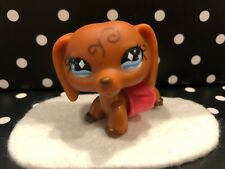 AUTHENTIC ORIGINAL LITTLEST PET SHOP # 640 SWIRLS DACHSHUND DOG W/ TU-TU