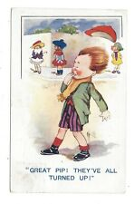 Vintage postcard 'Great Pip! They've all Turned Up' A & H 'Topole' Series, 1922