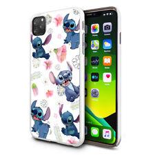 DISNEY Floral Stitch Pattern Phone Case For Apple Samsung Huawei Google