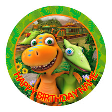 Dinosaur Train Personalised Edible Party Birthday Cake Decoration Topper Image