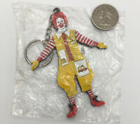 1995 Ronald McDonald Rubber McDonald's Promotional Keychain Size 3.5 Inches