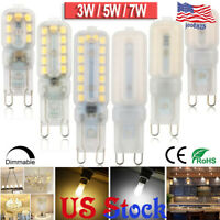 1-10PACK Dimmable 3W 5W 7W Bi-Pin Base G9 LED Halogen Bulb Warm /Cool White US
