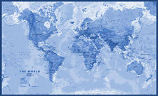 "World map wallpaper, Peel-and-stick matte finish paper in 29.5"" x 47.5"""