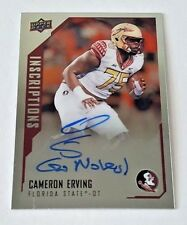 "2015 UPPER DECK INCRIPTIONS CAMERON ERVING RC AUTO ""GO NOLES"" FLORIDA STATE DT"