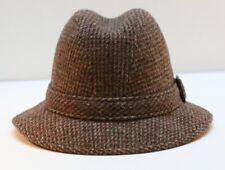 Pendleton Vintage 100% Virgin Wool Men's Fedora Hat Brown Tweed  Size 7 1/8  USA
