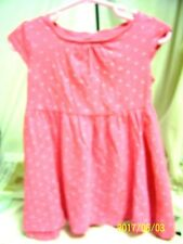 H & M toddler basic knit dress organic cotton size 1-1/2-2 yrs pink with hearts