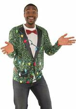 Ugly Christmas Men's Small Long Sleeve T-Shirt Sequin Suit - Faux Real - NEW