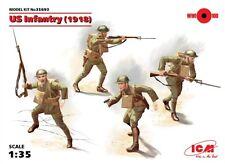 WW I FANTERIA degli Stati Uniti 1918 con le armi (WINCHESTER, Colt, Lewis & Browning) 1/35 ICM