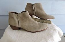 Women's Sam Edelman Petty Ankle Boots Beige Putty Suede Size 13