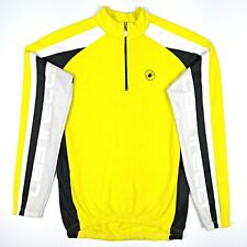 Castelli Long Sleeve Bike Cycling Jersey Size M Yellow, Fleecy, Made in Italy