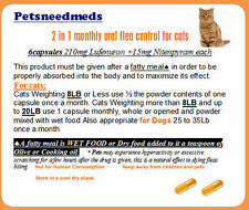6 Petsneedmeds CAT 2 in1 monthly Flea control & Kill oral capsules Tuna Flv