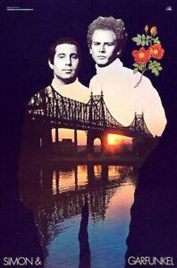 Simon & Garfunkel POSTER Bookends 1968 Rare LARGE