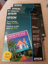 Epson Glossy Photo Paper Letter Ink Jet Printer 8x11 S041124  20 shts 51lb New