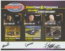 2017 Monza + Dominator + Reaper signed Howards Cams PRI Street Outlaws postcard