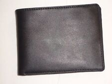 Gun Shot Coin Pocket Billfold Genuine Leather Wallet