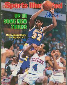 Lakers Magic Johnson Signed March 1984 Sports Illustrated Magazine BAS #MJ17785