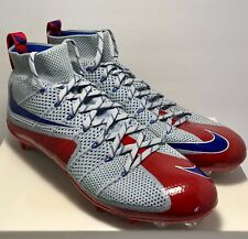 Nike Mens Size 14 Untouchable 1 Wolf Grey Red Blue Football Cleats Rare New $220